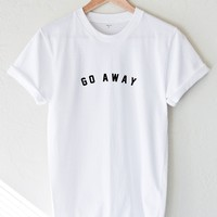 Go Away Tee - White