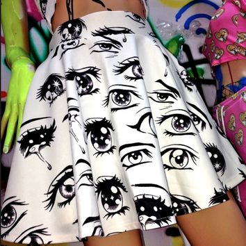 SWEET LORD O'MIGHTY! ANIME EYES SK8R SKIRT