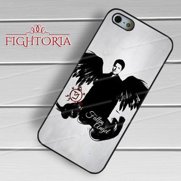 Supernatural Castiel -EnLs for iPhone 6S case, iPhone 5s case, iPhone 6 case, iPhone 4S, Samsung S6 Edge