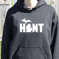 Hunt Michigan Hoodie, Sweatshirt, State, Home, Mitten