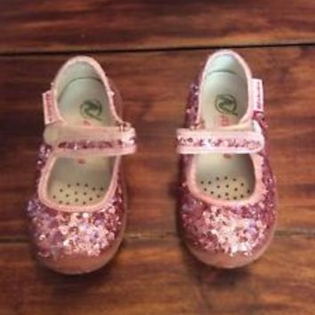Kids Naturino Lunar T-Strap Flat Toddler Shoes Size US 8 EU 23 Pink Rosa