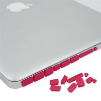 Skque Hot Pink Anti Dust Plug Cover for Apple MacBook Pro Air 11 13 15