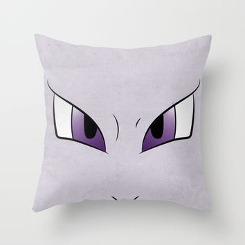 #151 Mewtwo. Minimalistic Pokemon Art Throw Pillow by Jorden Tually Art