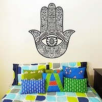 Wall Decal Vinyl Sticker Decals Art Home Decor Murals Indian Hamsa Hand Buddha Ganesh Lotus Yin Yang Om Eye Yoga Studio Decoration Bedroom Dorm Decals AN44