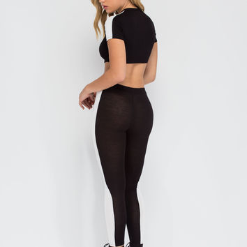 Panel Play Contrast Inset Leggings