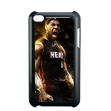 Lebron James Screaming Miami Heat iPod Touch 4 iPod Touch 5 iPod Touch 6 Case