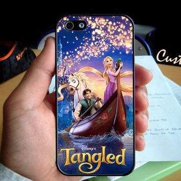 Disney Beautiful Rapunzel Tangled - Photo Hard Case design for iPhone 4/4s Case, iPhone 5 Case, Black or White ( Choose Option )