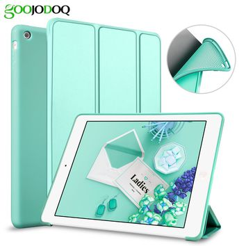 For iPad Pro 10.5 Case,For iPad 2017 9.7 inch PU Leather+Silicone Soft Back Stand Auto Sleep Smart Cover  for iPad 2017 Coque
