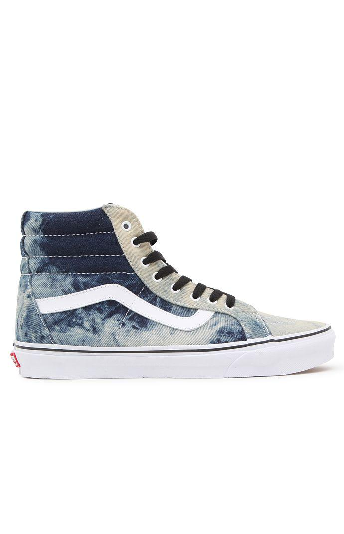 7b7c3ea924 Vans Acid Denim SK8-Hi Reissue Shoes - Mens Shoes - Blue White