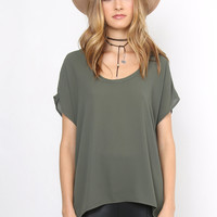 Decker Sophie Top - Olive
