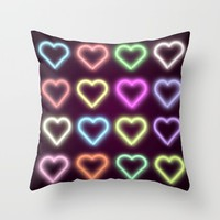 Neon Love Throw Pillow by Dood_L