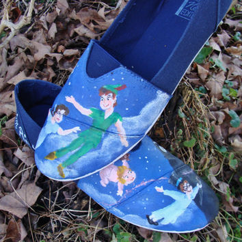 Peter Pan Hand-Painted  TOMS (canvas shoes)