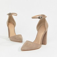 ASOS DESIGN Pebble pointed high heels at asos.com