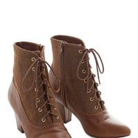 Bait Footwear Vintage Inspired, 20s, French From the Same Cloth Boot in Cognac