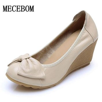 2017 Women Spring Wedges white shoes wedding Wedge Elegant Bridesmaid Shoes Pointed Toe Women Shoes Round Toe Work Shoes A08W