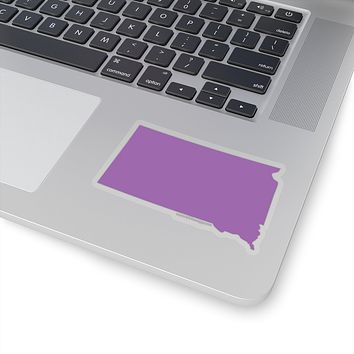 South Dakota State Shape Sticker PURPLE