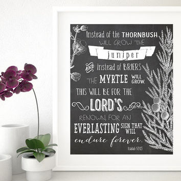 Custom chalkboard printable art - quote wall art print - your personalized custom quote, saying, scripture, Bible verse in this style -chp00