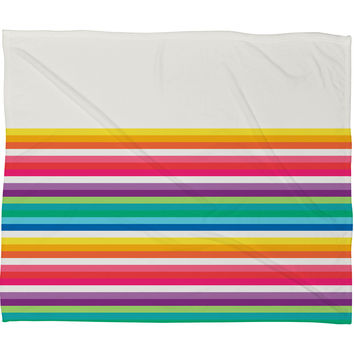 Jacqueline Maldonado Rainbow Stripe Fleece Throw Blanket