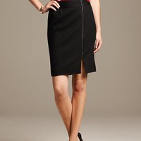 Banana Republic Womens Boucle Side Zip Skirt