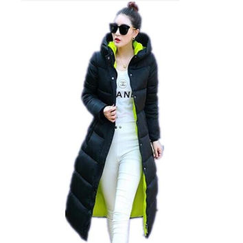 2016 Down Coat Parkas Women's Winter Jackets Winter Long Jacket Women High Quality Warm Female Thickening Warm Parka Hood JX033