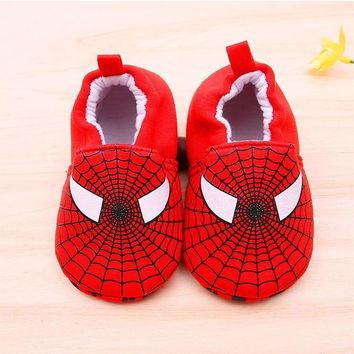2017 Baby Toddler Shoe Hello Kitty Spiderman American Captain Superman Cotton Boys Girls Kids Children Shoes Winter Warm Toddler