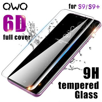 6D Full Curved Screen Protector For Samsung Galaxy S9 S8 Plus S7 Note 8 9 Tempered Glass For Samsung S9 Note9 Transparent Glass