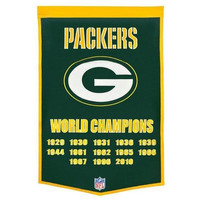 "Green Bay Packers 24""x36"" Wool Dynasty Banner"