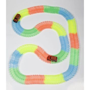 Puzzle Roller Coaster Track Toy Truck Children Racing Car Toys Kid Assembled Glow Track Rail Toy Vehicles