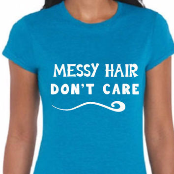 Messy Hair  Woman's Tee  (Multi-Color Choices)  Womens T-Shirt