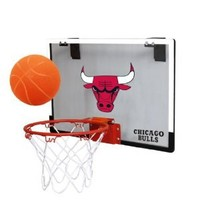 NBA Chicago Bulls Game On Indoor Basketball Hoop & Ball Set