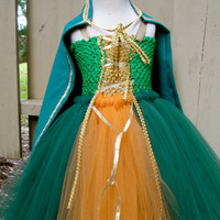 Brave  Merida tutu dress with cape costume