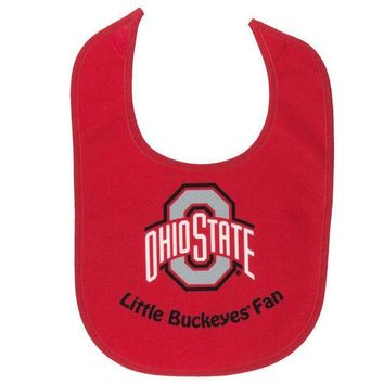 ESBGQ9 Ohio State Buckeyes - Little Fan All Pro Baby Bib