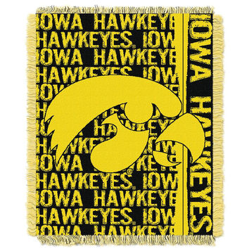 Iowa Hawkeyes NCAA Triple Woven Jacquard Throw (Double Play Series) (48x60)