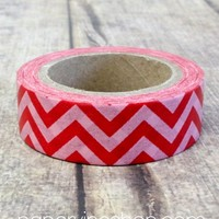 Basic Chevron (Red, Pink): PaperVine - New Zealand based Scrapbook & Craft supplies