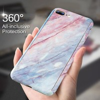 H&A 360 Degree Full Body Protective Phone Case For iPhone 7 8 6 6s Plus Marble Stone Phone Cover For iPhone 6 6s 8 7 Plus Shell