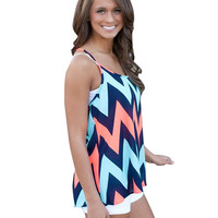 Cami Tank Top in Chevron Stripe Print