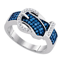 Diamond Fashion Ring in 10k White Gold 0.5 ctw