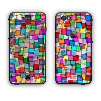 The Vibrant Colored Abstract Cubes Apple iPhone 6 Plus LifeProof Nuud Case Skin Set