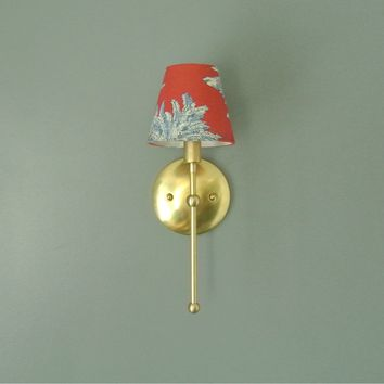Petite Traditional Brass Wall Sconce
