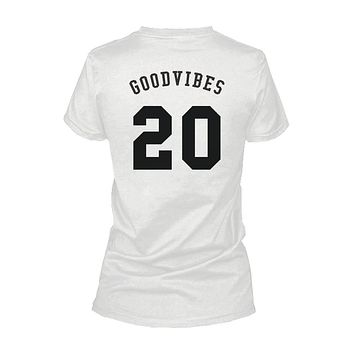 Good Vibes 20 Back Print Women's T-Shirt