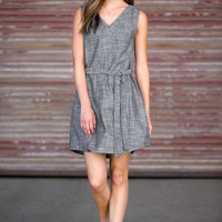 Chambray Tie Dress