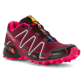 Salomon Speedcross 3 | Women's - Bordeaux/Hot Pink/Lotus Pink
