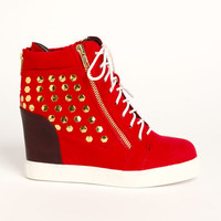ZIP ACCENT WEDGE SNEAKERS