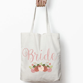 Wedding Tote Bag - Bride Tote, Bridesmaid Gift, Maid of Honor Gift, Flower Girl Gift, Welcome Bags, Favor Bags, Gift Bags, Bridal Bags