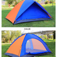 Free Shipping Outdoor Casual Camping Tent Double Single Tier Tents Lovers Tent Double Layer Rain Tent ZO81