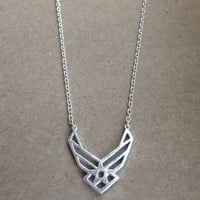 United States Airforce wings necklace