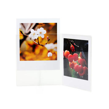 Photo Frame Fujifilm Instax Square SQ10 Film Holder Double Acrylic Crystal Clear Transparent