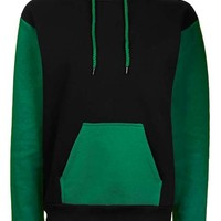 Clean Colour Block Hoodie