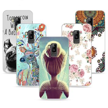 UTOPER DIY Name Case for Bluboo S8 Case for Bluboo S8 Cover Flower Wing Girl Painted Cover for Bluboo S8 Phone Cases 5.7 Inch