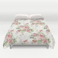 SOUTHERN BELLE FLORAL Duvet Cover by Madisyn Nicole
